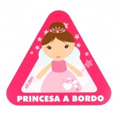 Pegatina para coche Princesa a Bordo