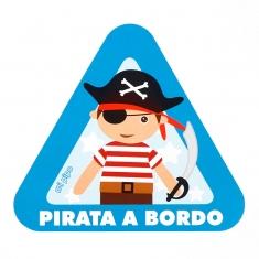 Adhesivo para coche Pirata a Bordo