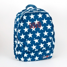 Personalized Dark blue Stars Junior Backpack
