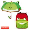 Pack ahorro Mochila + Paraguas 3D Fisher Price Rana