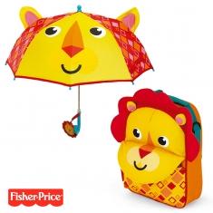 Pack ahorro Mochila + Paraguas 3D Fisher Price León