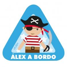 Adhesivo Pirata a bordo para coche personalizada
