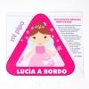 Pegatina Princesa a bordo para coche personalizado