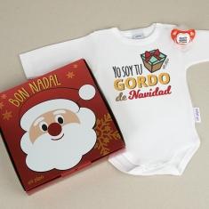 Cajita Navidad Body + Chupete Yo soy tu gordo de Navidad