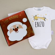 Babidu Body Navideño Personalizado Navidad Estrella Fugaz
