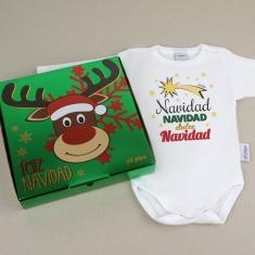 Babidu Body Navideño Navidad, Navidad, dulce Navidad con cajita de regalo