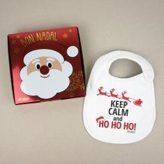 Babero Navideño Keep Calm and Ho, Ho, Ho!