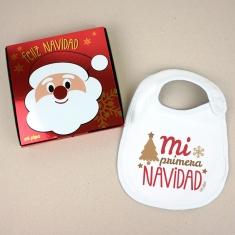 Babero Navideño Mi Primera Navidad Estilo Retro