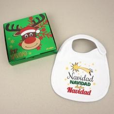 Babero Navideño Navidad, Navidad, dulce Navidad con cajita de regalo