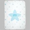 Arrullo Estrellas Azul Personalizado tacto terciopelo