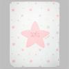 Arrullo Estrellas Rosa Personalizado tacto terciopelo