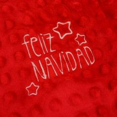 Manta Clásica Roja Feliz Navidad