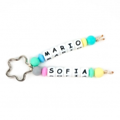 Keychain Double Multicolor Personalized