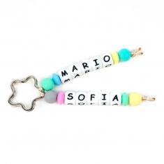 Llavero Silicona doble Multicolor Personalizado