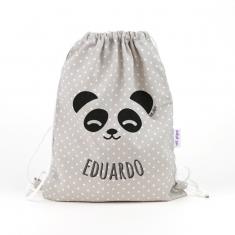 Petate Panda Gris personalizado