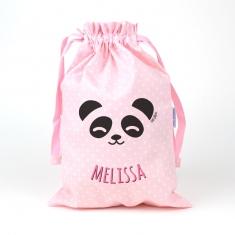 Saquito Panda Rosa personalizado