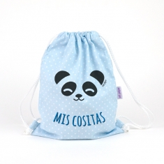 Petate Panda Azul Mis Cositas