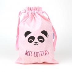 Saquito Panda Rosa Mis Cositas
