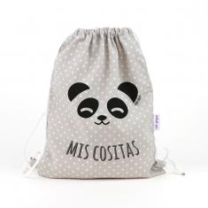 Petate Panda Gris Mis Cositas