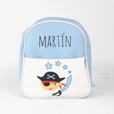 Mochila Pirata Azul Personalizada