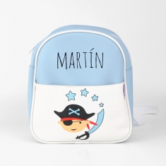Backpack Stars Blue Personalized