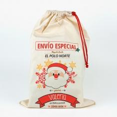 Saco Navideño para Regalos Papá Noel personalizado