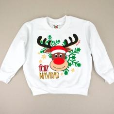 Sudadera Navideña Feliz Navidad con Reno Rudolph