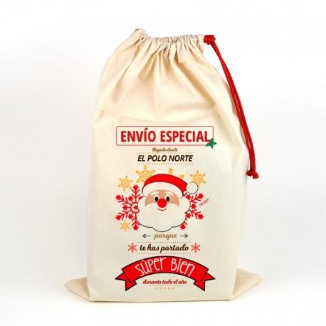 Saco Navideño para Regalos Papá Noel