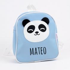 Mochila Panda Azul Personalizada