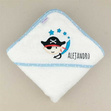 Bathing Coat Mi Pipo Blue Personalized