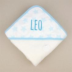 Capa de baño Mi Pipo Estrellas Azul Personalizada