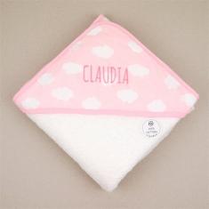 Capa de baño Mi Pipo Nubes Rosa Personalizada