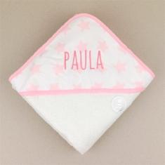 Capa de baño Mi Pipo Estrellas Rosa Personalizada