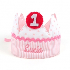 Birthday Crown Pink Handmade Personalized