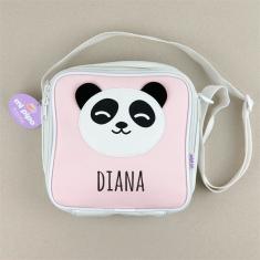 Bolsa Isotérmica Panda Rosa Personalizada