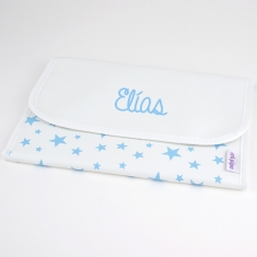Briefcase Stars Blue Personalized