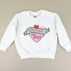 Camiseta o Sudadera Bebé y Niño/a Superpapi eres Guay Rosa