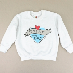 Camiseta o Sudadera Bebé y Niño/a Superpapi eres Guay Azul