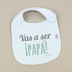 Babero Divertido Vas a ser ¡PAPÁ! +3m